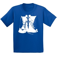 Phi Beta Sigma Boots T-Shirt, Royal Blue DTG