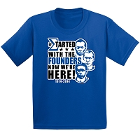 Phi Beta Sigma Started With The Founders T-Shirt, Royal Blue DTG