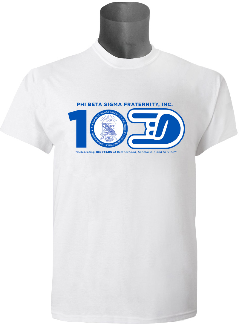 Phi Beta Sigma 103rd Founder's Day DTG T-Shirt, White