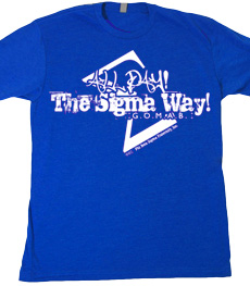 All Day the Sigma Way! Word Design on Royal Blue Shirt