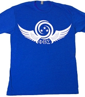 3 Stars Sigma Dove Wings - Screen Print on Royal Blue