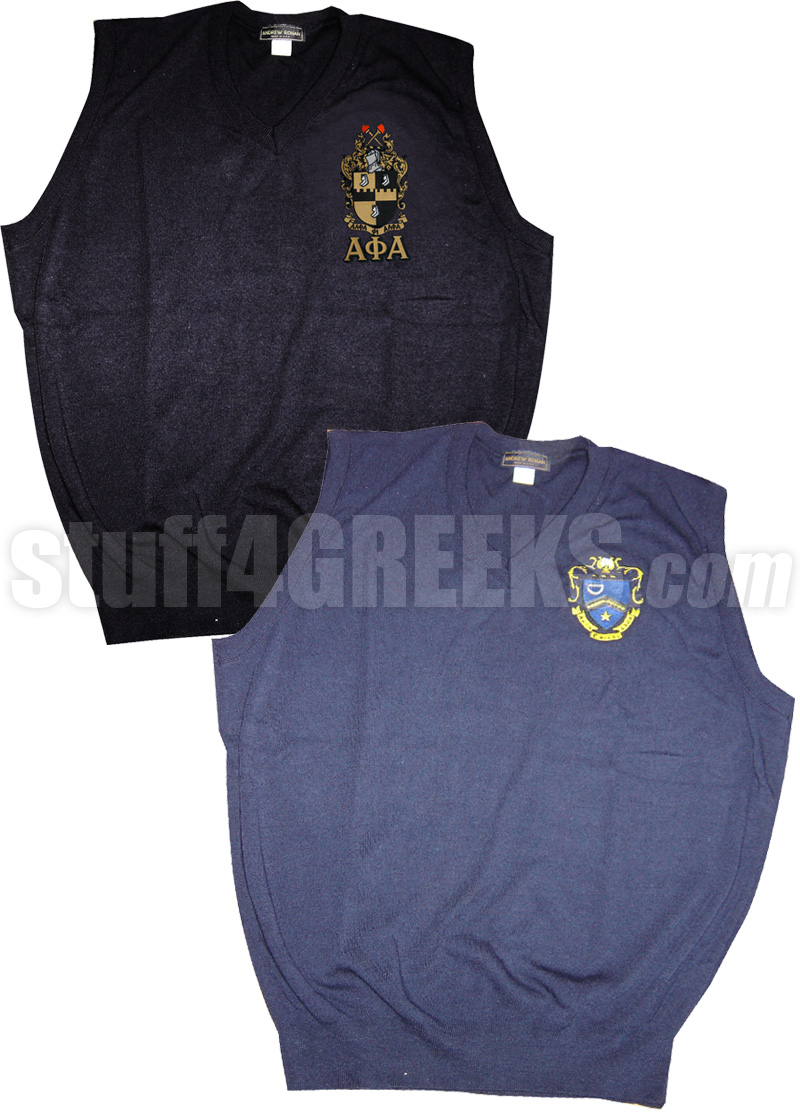 Custom Greek Sweater Vest