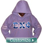 Custom Greek Pullover Hoodie Sweatshirt