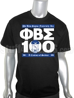 Phi Beta Sigma Centennial RUN DMC Embroidered T-Shirt, Black