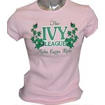 Ivy League Fitted T-Shirt, Pink