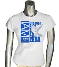 I AM A Zeta Phi Beta - With Dove Background of Founders