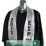Custom Satin Graduation Stole