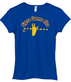 SGRho Handsign Ladies Tee, Royal