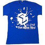 All Day the Sigma Way! Paint Splash on Royal Blue Shirt