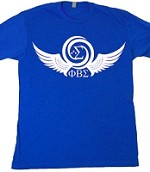 Sigma Dove Wings - Screen Print on Royal Blue