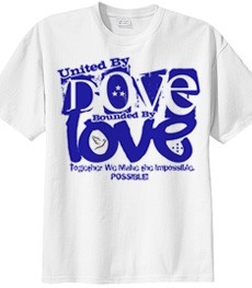 United by Dove Bounded by Love - Screen Print on White Shirt