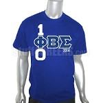 Phi Beta Sigma 100 Years Embroidered T-Shirt, Royal Blue