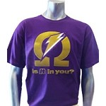 Omega Ade (Is It In You?) T-Shirt, Purple